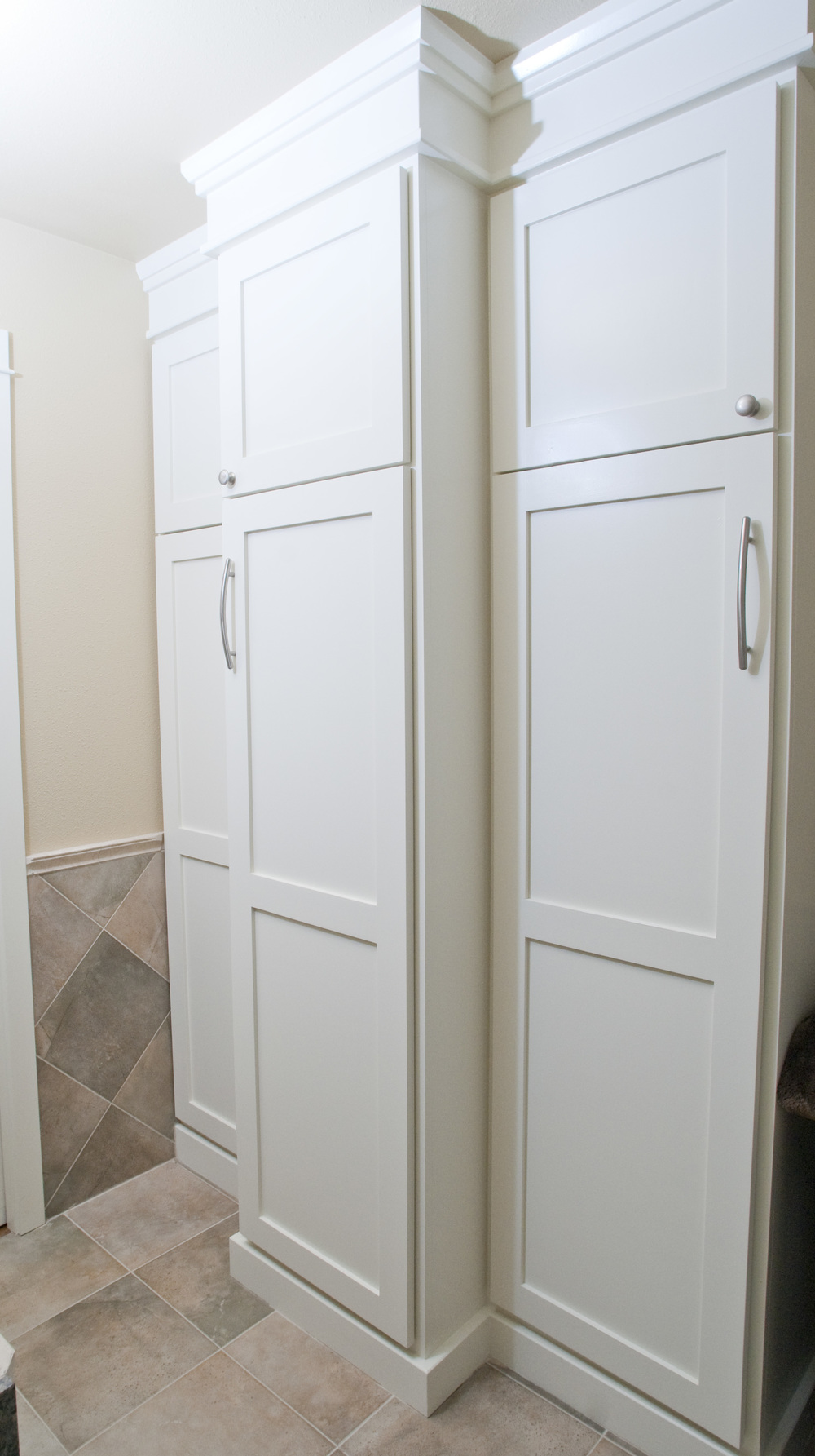 After Solution: Remove one tub and replace with amazing storage