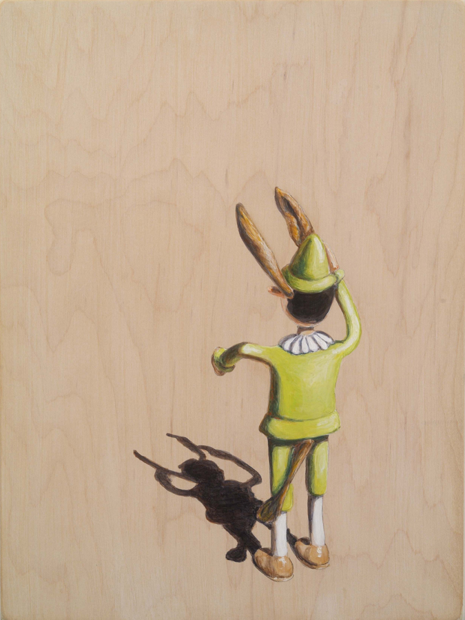 "Ass  ©2006 Acrylic on Wood 12"" x 9"""