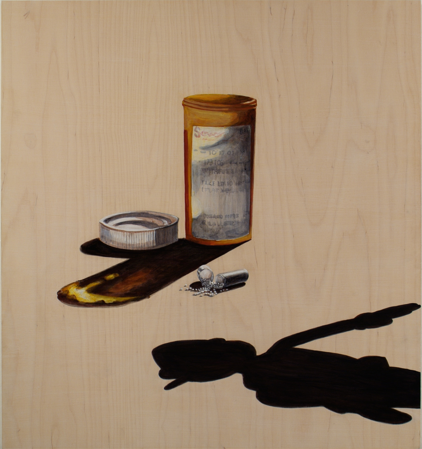 "Meds  ©2005 Acrylic on Wood Panel 30"" x 28"""