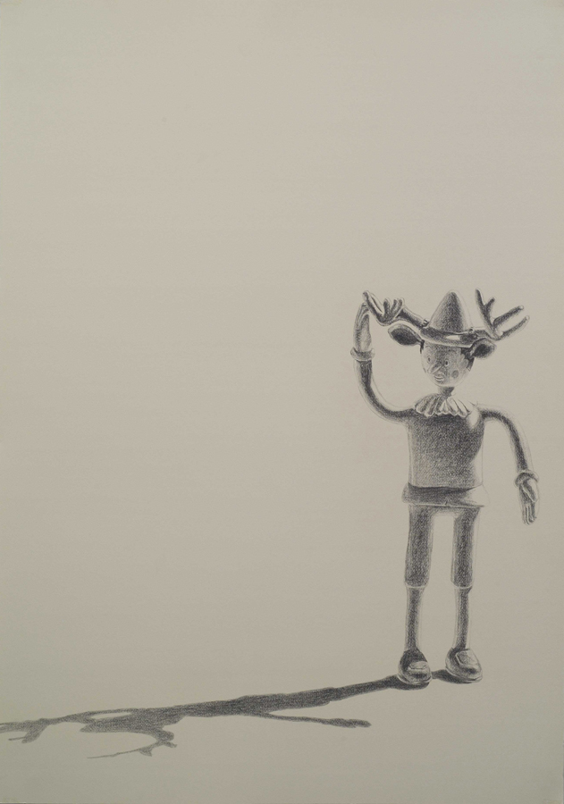 "Stag  ©2006 Graphite on Paper 40"" x 28"""