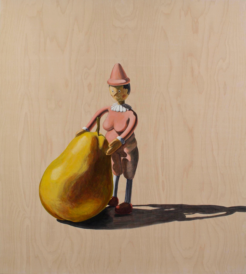 "What a Pear  ©2006 Acrylic on Wood Panel 56"" x 50"""