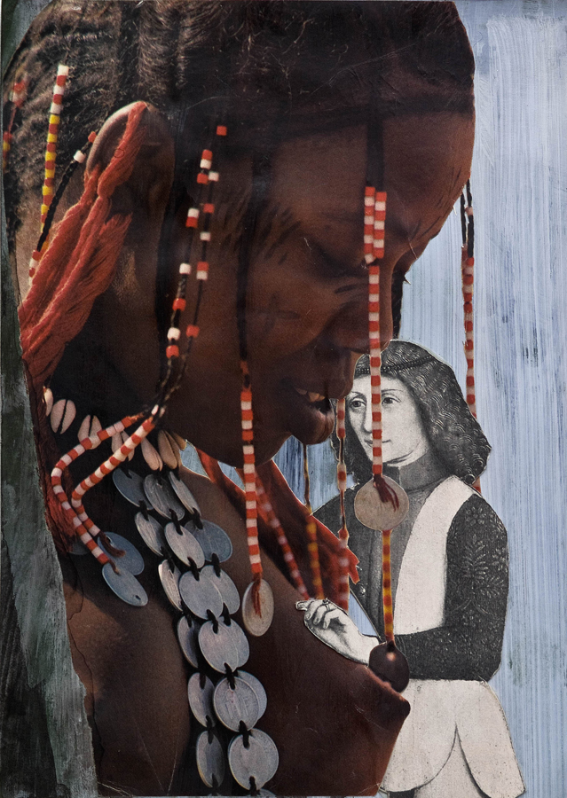 """Rare Coins ©2011 Acrylic, India Ink and Collage on Paper 10"""" x 7"""""""