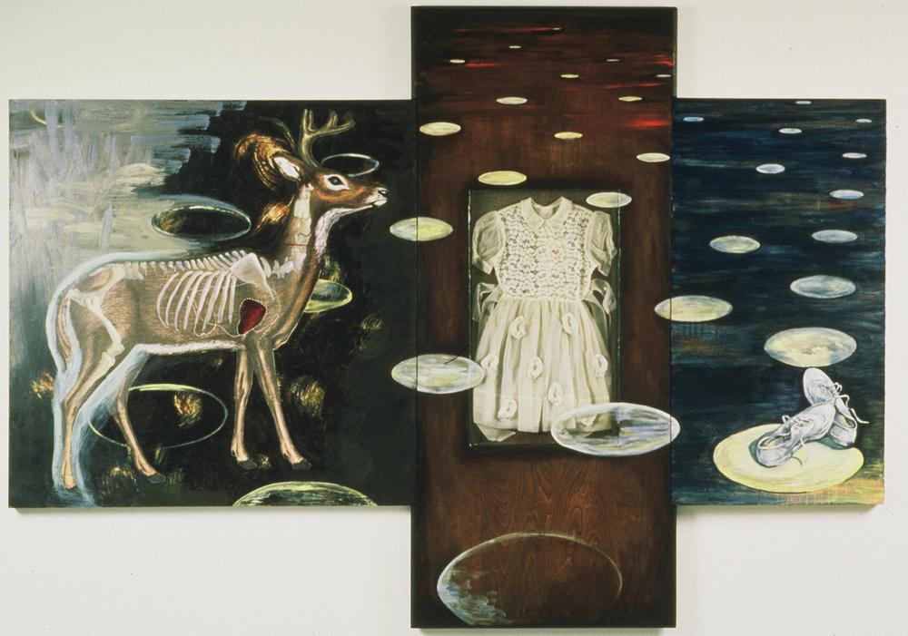 "The Second Sense  ©1998 Mixed Media on Wood Panel 72"" x 96"""