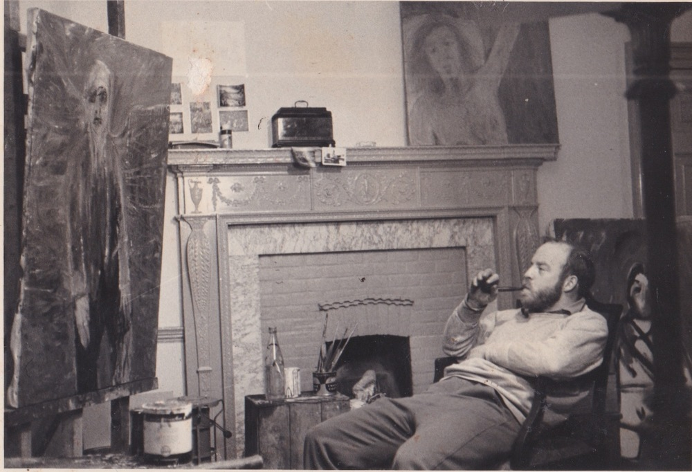 My father, W. Lee Savage in his studio, Sussex, England, 1962.