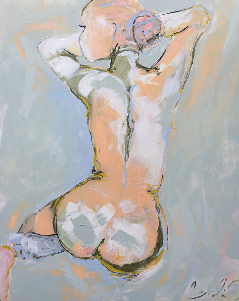 Apricot & Creame Seated Nude 24x30.jpg