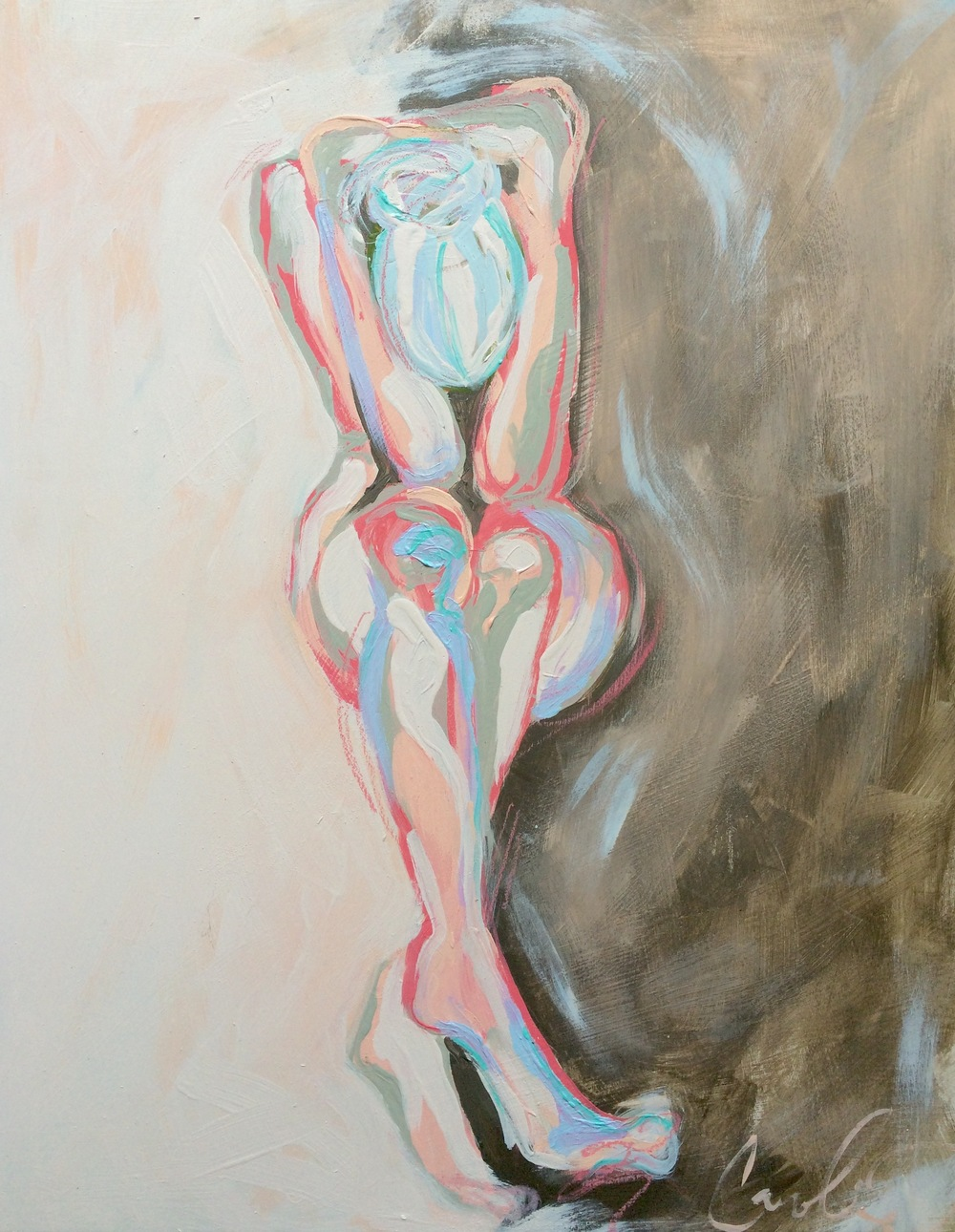 Rose & Lavender Seated Nude Caroline Boykin.jpg