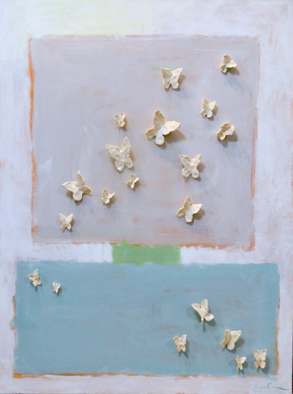Teal Butterflies - CB - 48x36 - $4,800-2.JPG