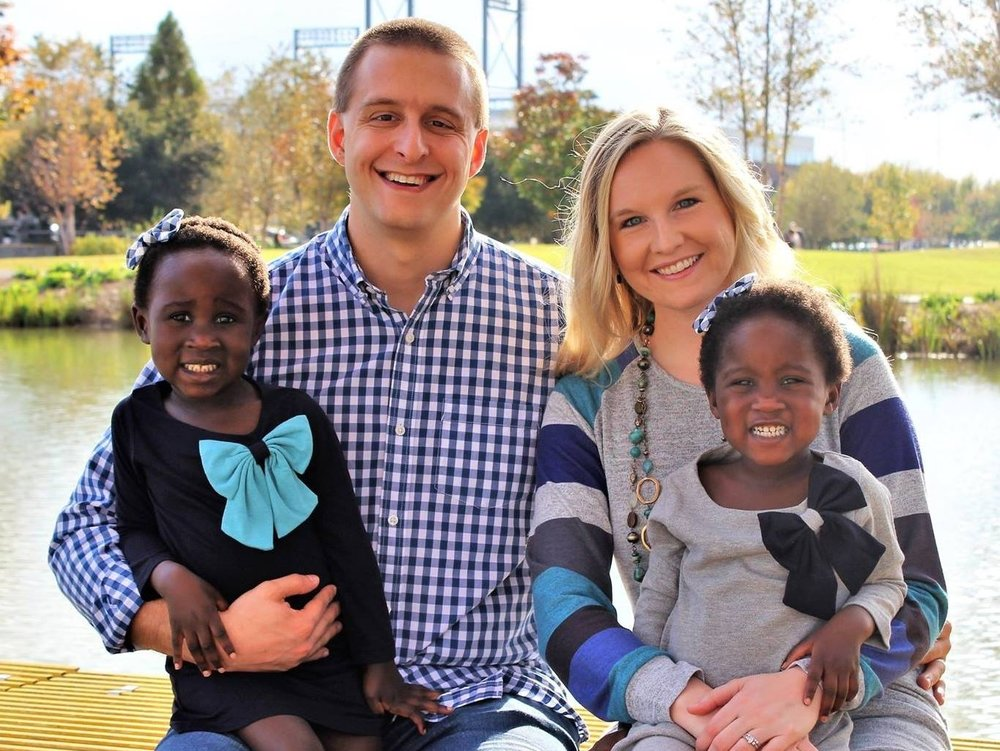 Blake & Lindsay Allen, with daughters Mercy and Noella (age 4, home from Burundi at age 2)