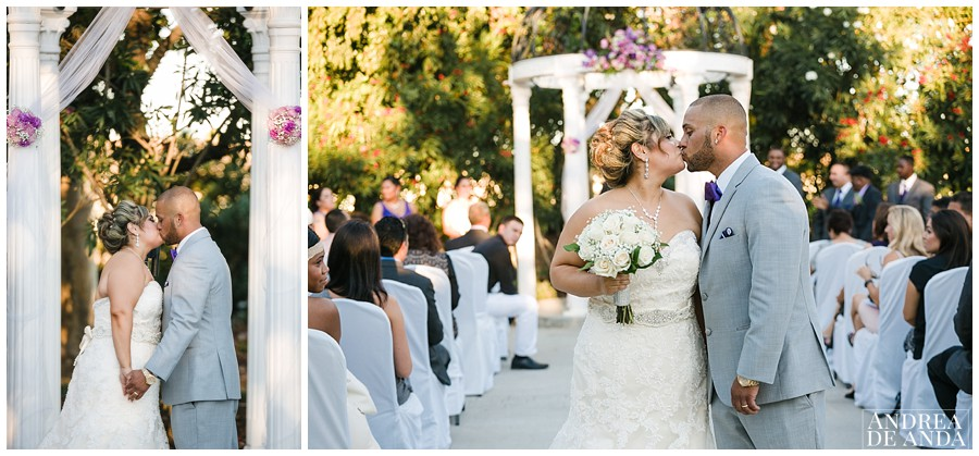 First and second kiss as husband and wife !