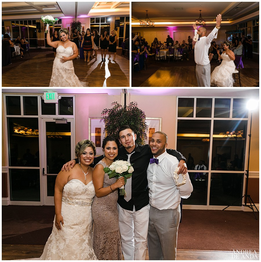 Bouquet and Garter toss was epic, and of course Teresa and Pablo won them both and yes, they are getting married next year ! what are the odds ?? Congratulations guys.