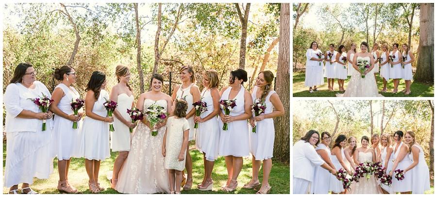 Megan and her bridesmaids, Girls just wanna have fun !