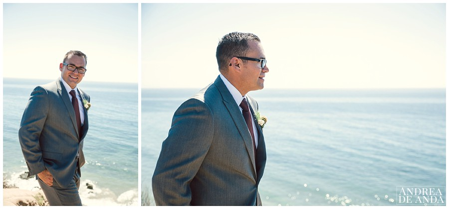 Terence was already waiting for us at the Carpinteria Bluffs. I love when my clients are adventurous and fun, and believe me, Terence and his groomsmen are a lot of fun !