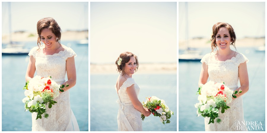 Bridal Portraits of Haley with the bay as background, she is a beautiful bride !
