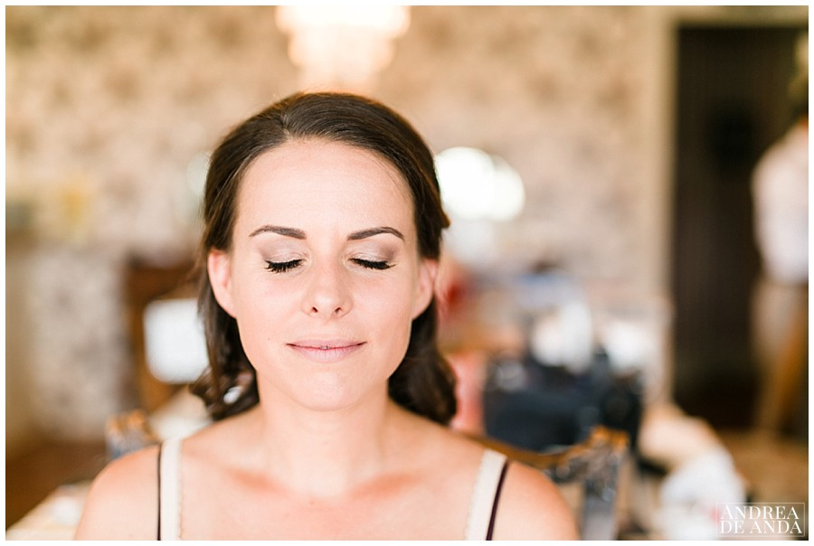 Bridal hair and makeup by Sierra Garman and makeup by Carissa Cassone