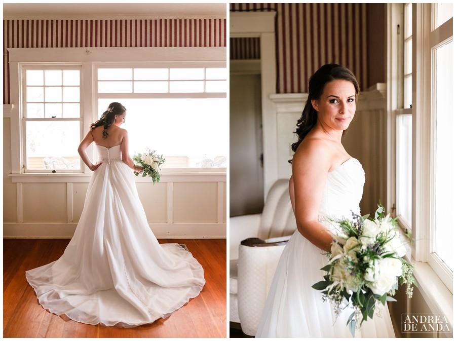 Bridal Portraits in the bridal suite of Rancho San Antonio