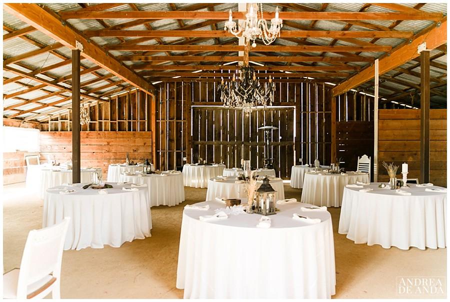Wedding Venue inside the barn at Rancho San Antonio