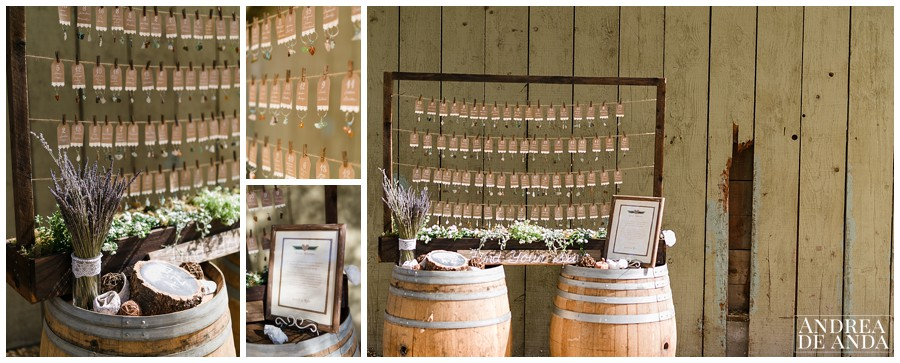 Like the handmade sea glass charms that acted like seating charts, guest favors and wine glass decoration !! Made by MOB