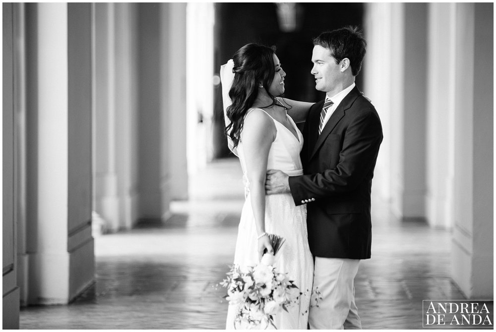 Bride and Groom Portraits at Pasadena City Hall