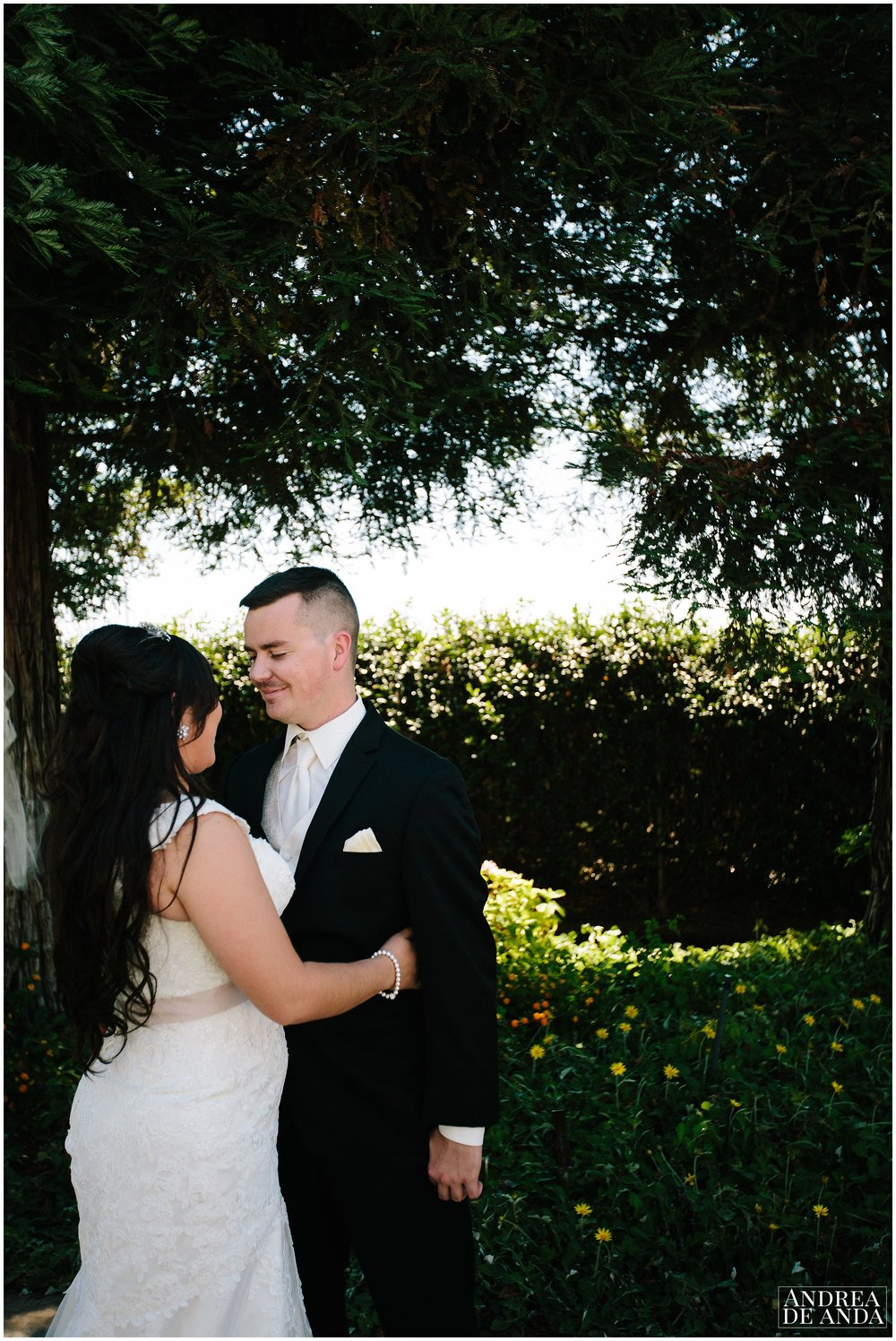 Portrait of Bride and Groom together after their first look