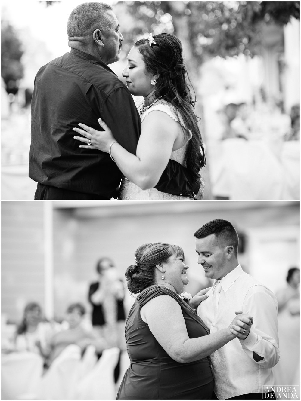 Bride and father first dance, Mother and Groom first dance, emotional beautiful dances.