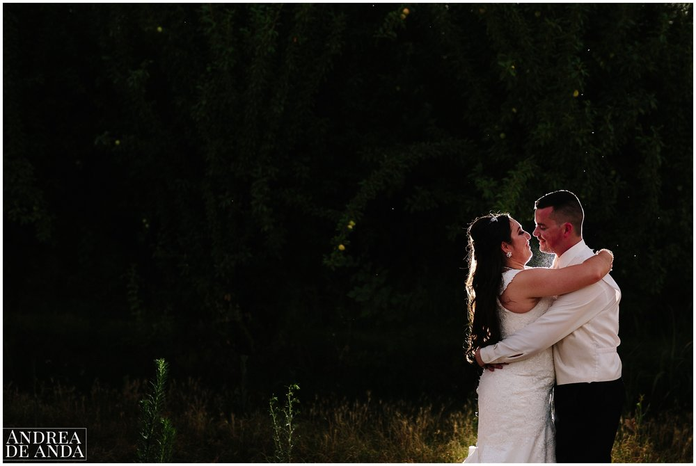 Night photography, Bride and Groom creative portraits