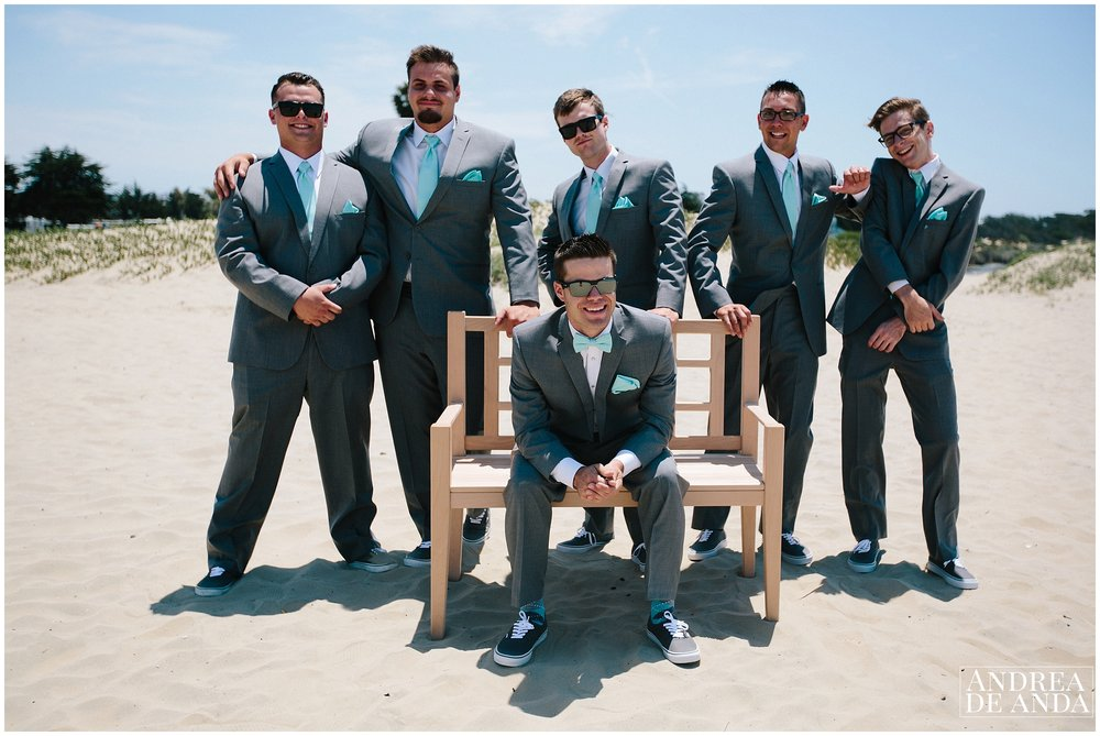 Groom & Groomsmen session at Pismo Beach