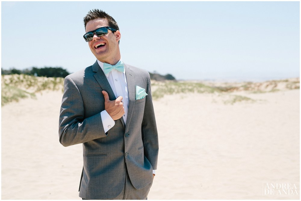 Groom's session at Pismo Beach