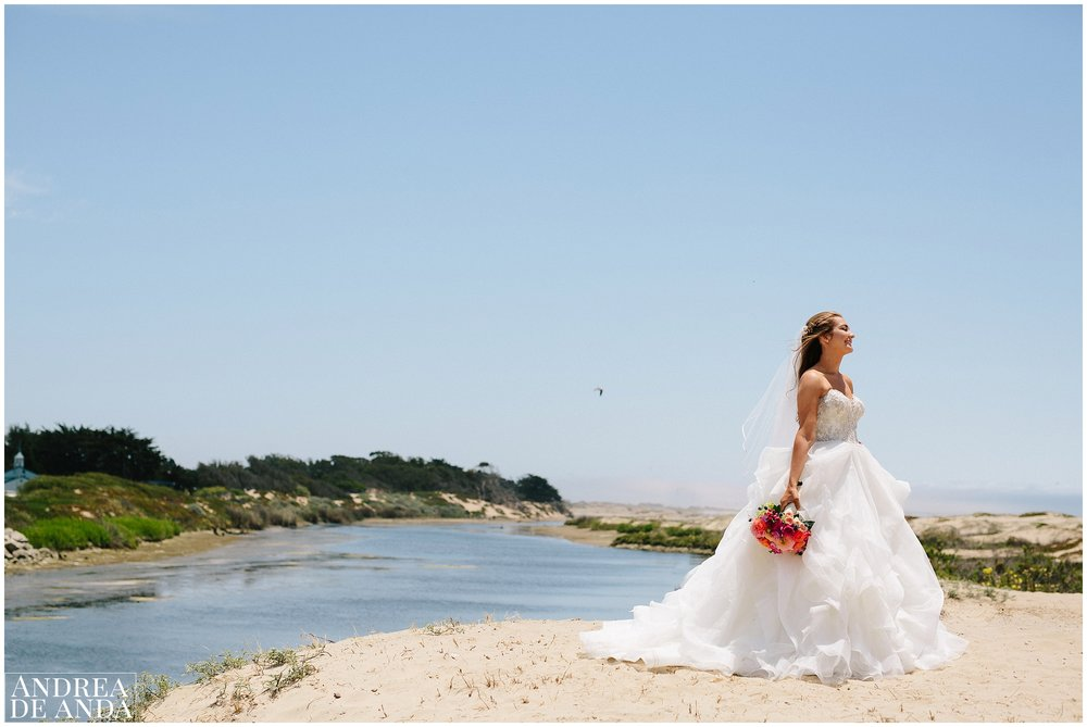 Bride's portraits in Pismo Beach