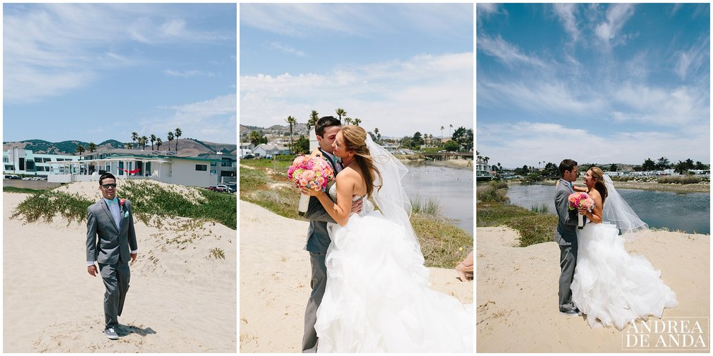 First look of Bride and Grooms at Sea Venture Hotel Pismo Beach