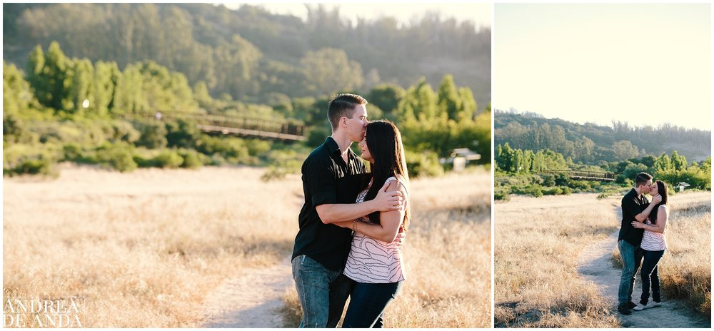 Romantic Posing Engagement session Orcutt Hills, Bride and Grooms portraits by Andrea de Anda Photography