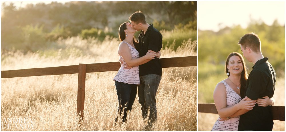 By the road Engagement session Orcutt Hills by Andrea de Anda Photography