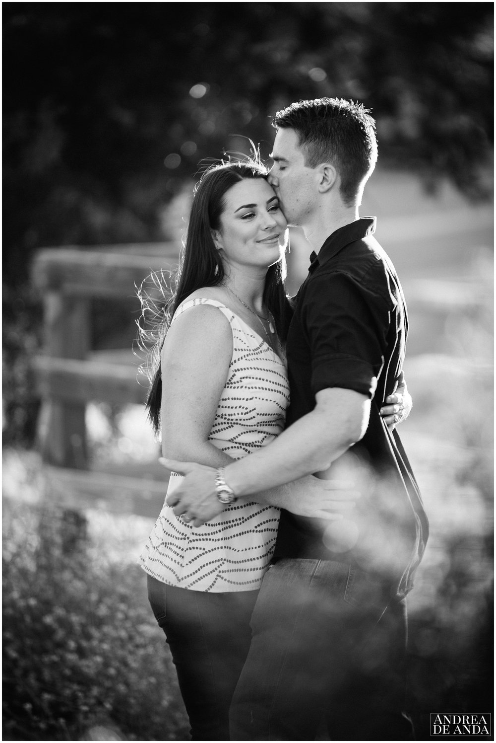Loving the Black and White, Engagement session Orcutt Hills by Andrea de Anda Photography