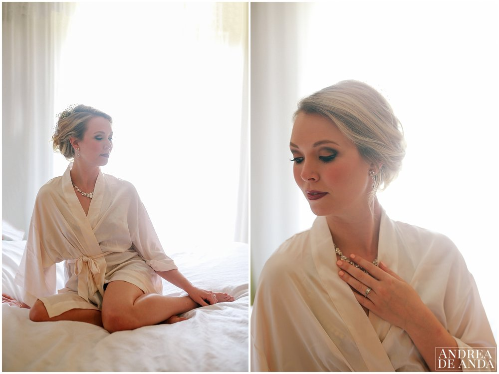 Bridal boudoir pictures at getting ready room