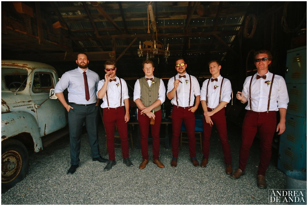 Groom & Groomsmen getting ready at Dana Powers House and Barn