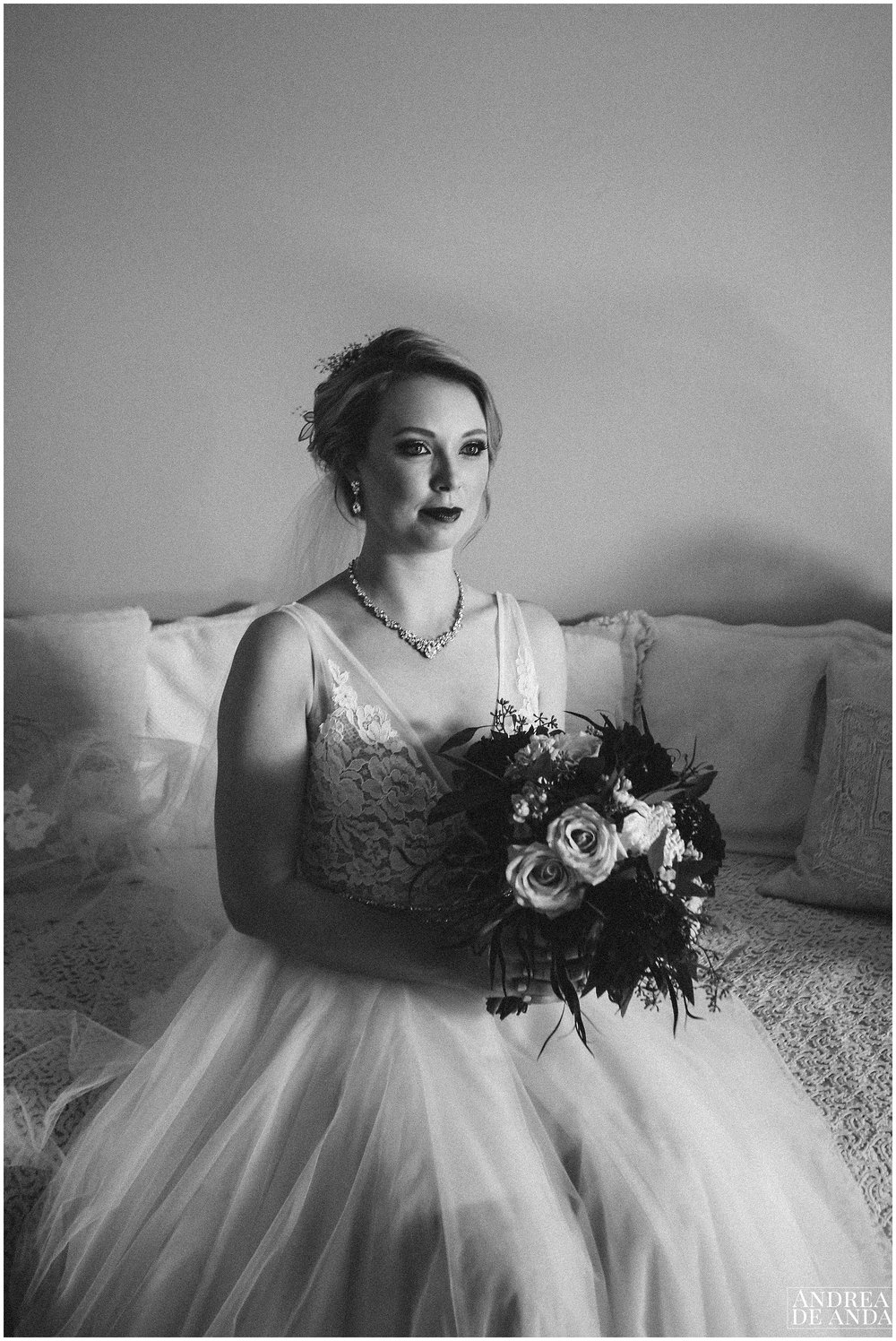 Timeless bridal portrait at Dana powers house and barn bridal suite