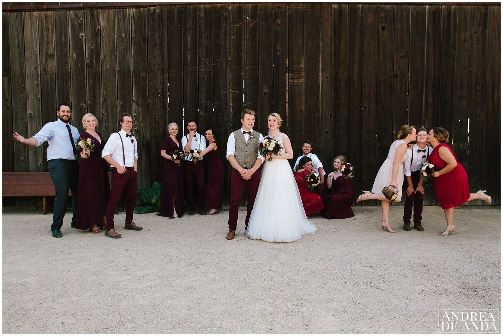 Bridal Party photo session at Dana Powers house and barn