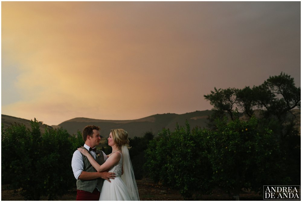 Bride and Groom creative photo session at sunset Dana Powers house and barn