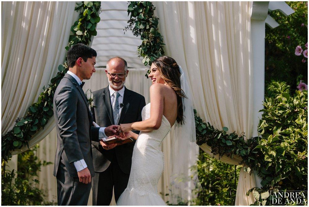 Secret Garden wedding ceremony Madonna Inn wedding. San Luis Obispo Wedding Photographer