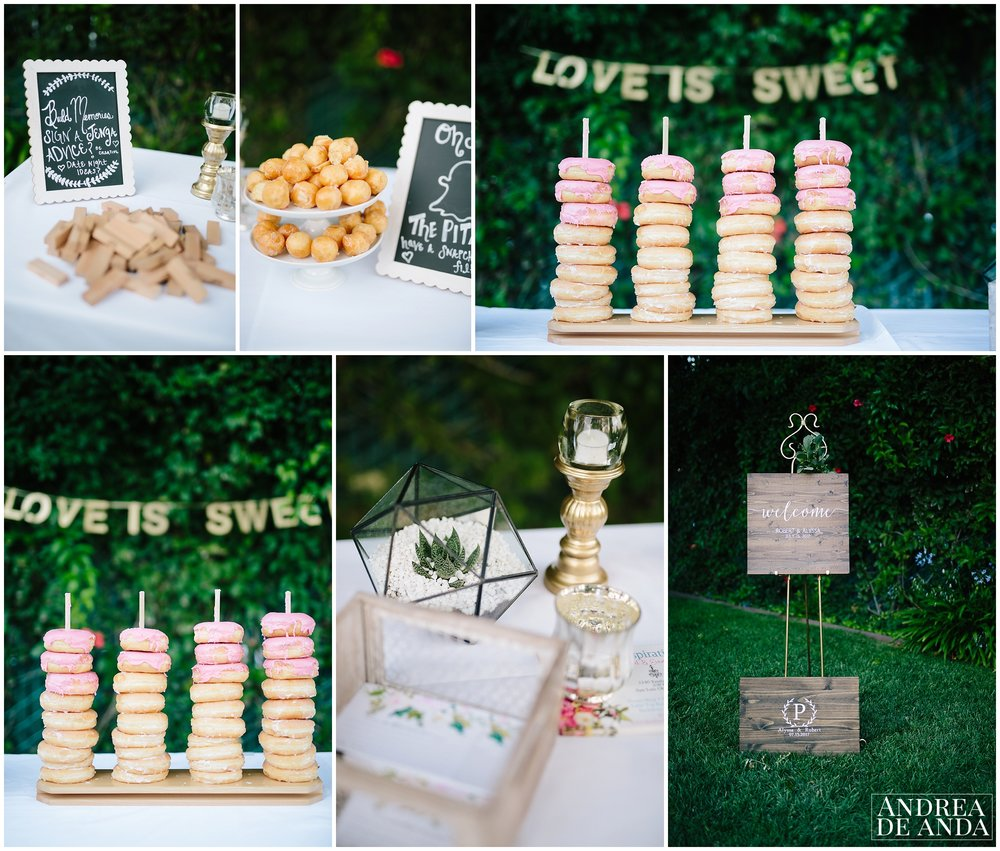 Ceremony details, candy bar, Secret Garden wedding ceremony Madonna Inn wedding. San Luis Obispo Wedding Photographer