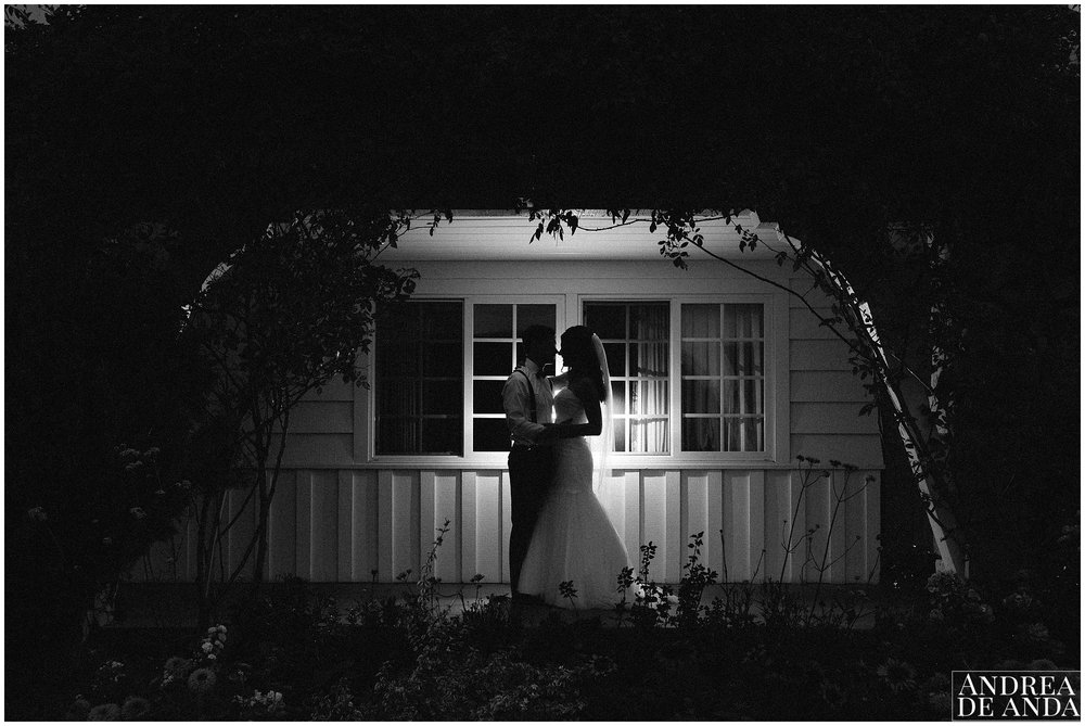 Bride and Groom sunset pictures, Secret Garden wedding ceremony Madonna Inn wedding. San Luis Obispo Wedding Photographer