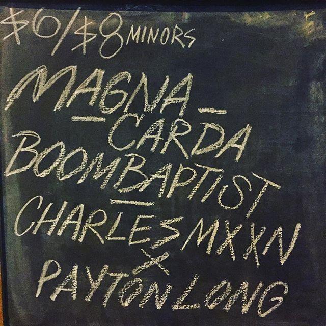 Magna Carda on tonight at Mohawk! #MyCityATX #austinmusic #austin #atx #atxmusic #MagnaCarda