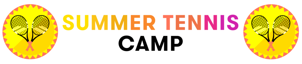 Summer Tennis Camp with racket graphics