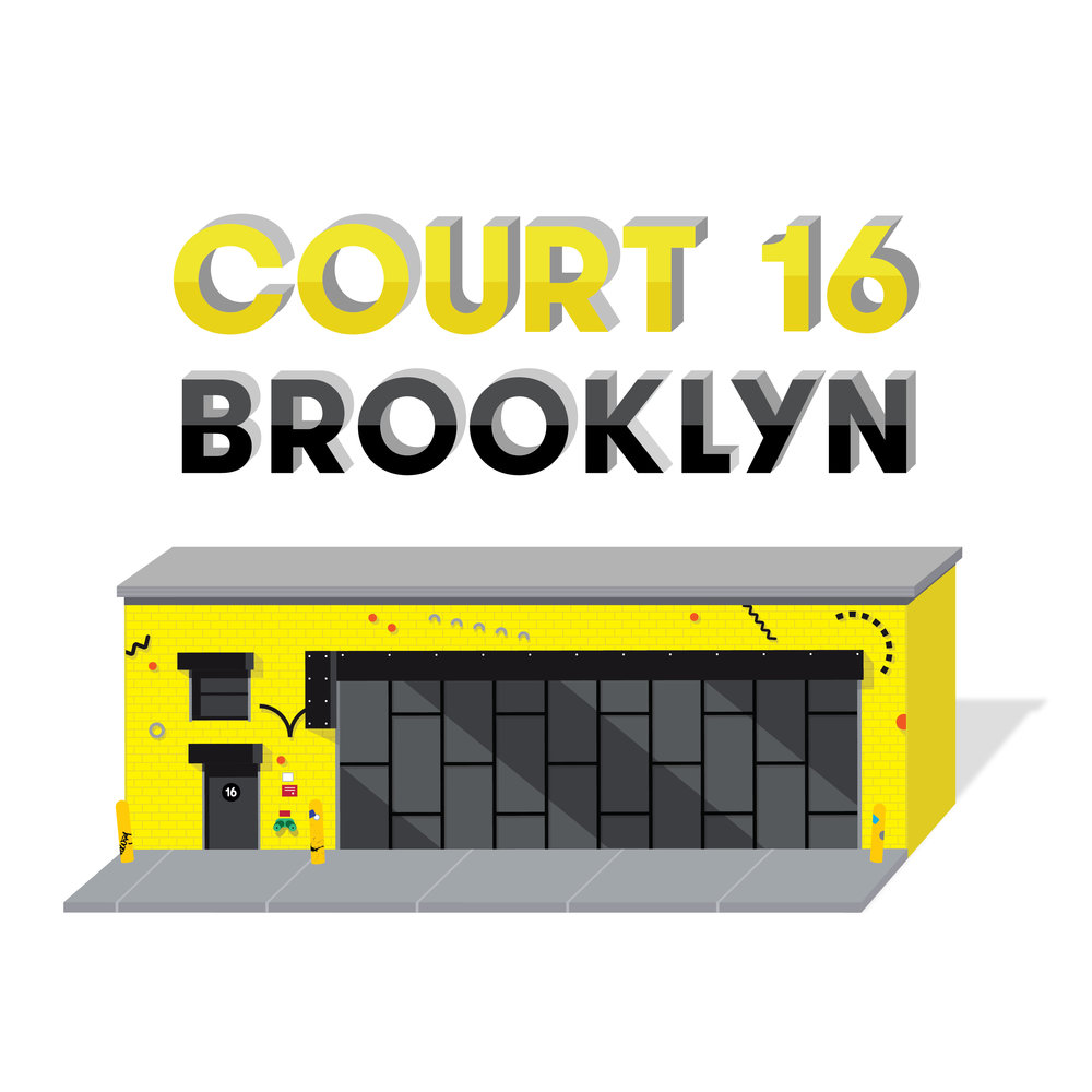 Court 16 Brooklyn graphic of front