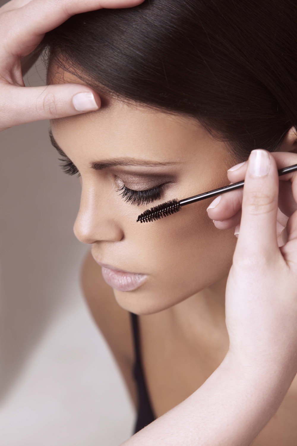 Use a disposable mascara wand to clean your lashes!