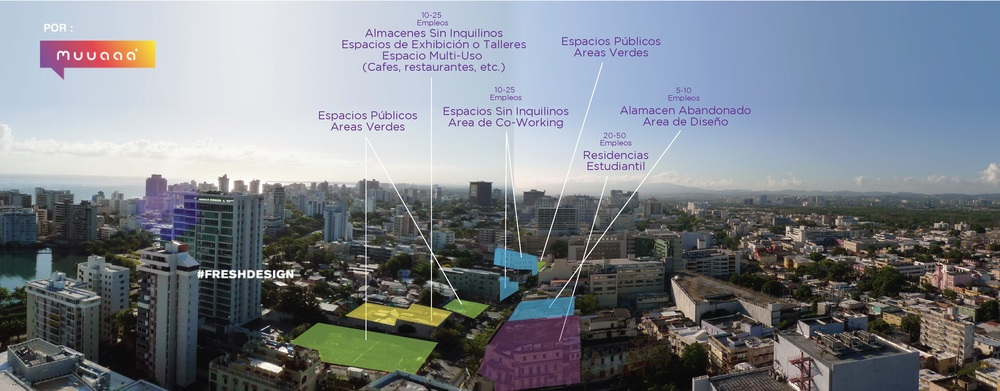 Mapa de densificación para Santurce Barrio Creativo