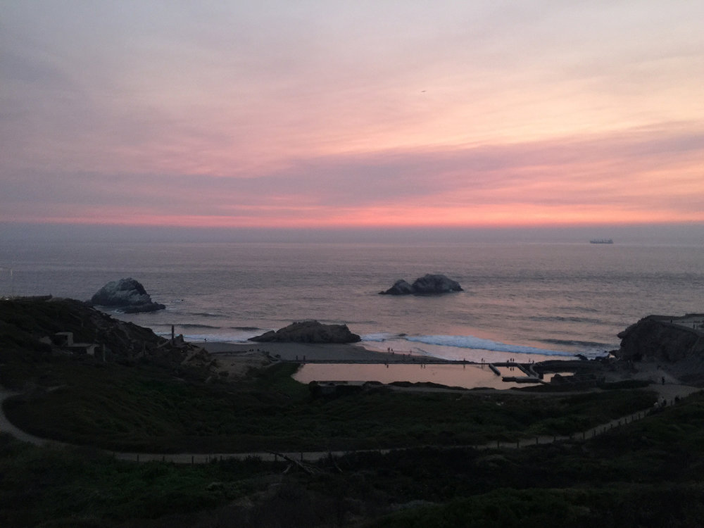 Above the Sutro Baths   8:00 pm