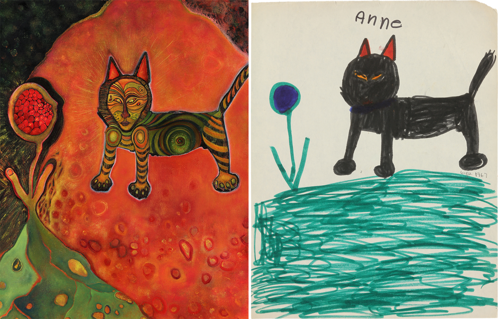 Another  Fifty Years Later Duo : Cat #1, 2017 / Cat #2 1967