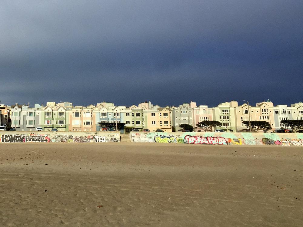 Ocean Beach Looking East  6:50 pm