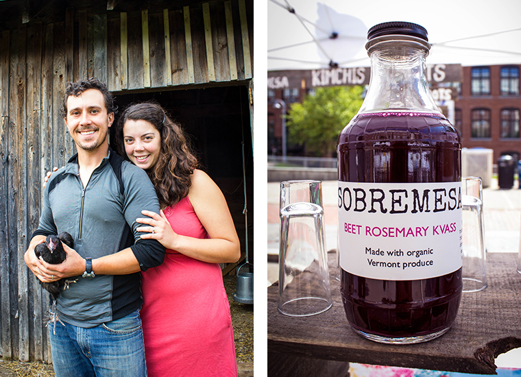 Jason and Caitlin & Beet Rosemary Kvass