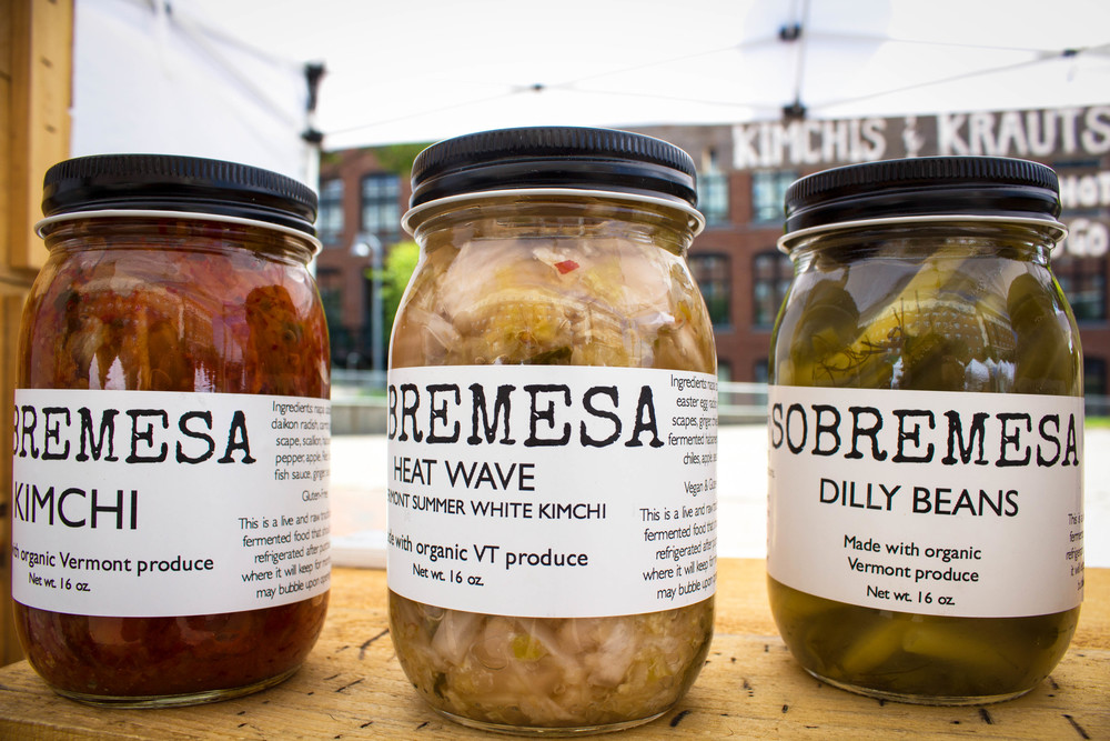 Sobremesa kimchis and dilly beans at the Winooski Farmers' Market